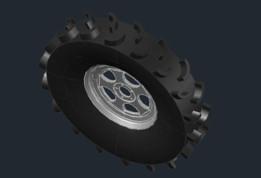 une roue tout terrains
