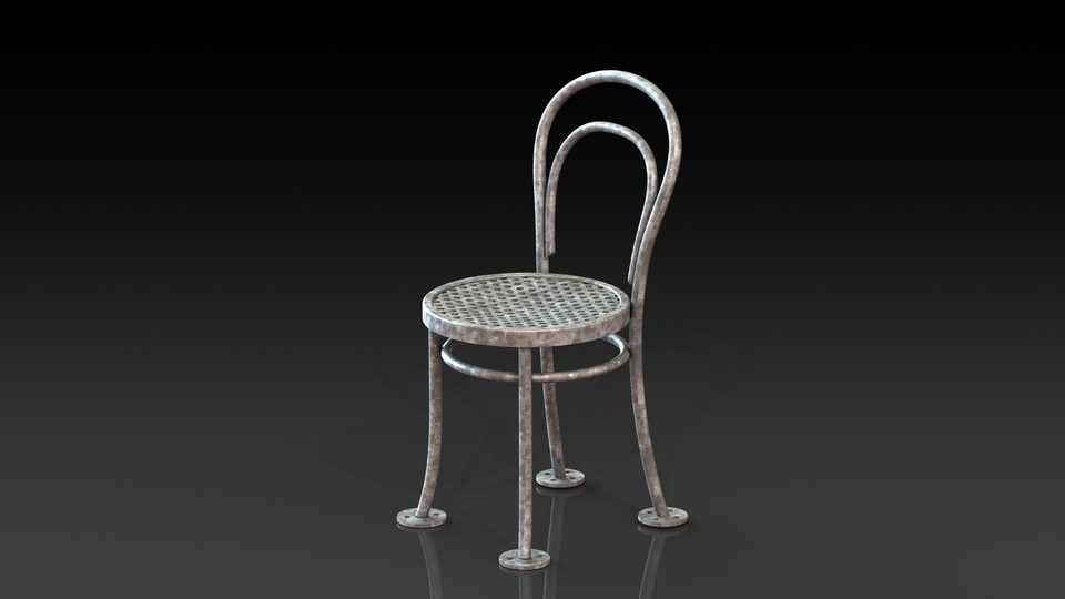 Steel Thonet Chair No 14 | 3D CAD Model Library | GrabCAD