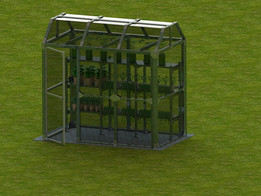 DIY residential greenhouse made of 80/20