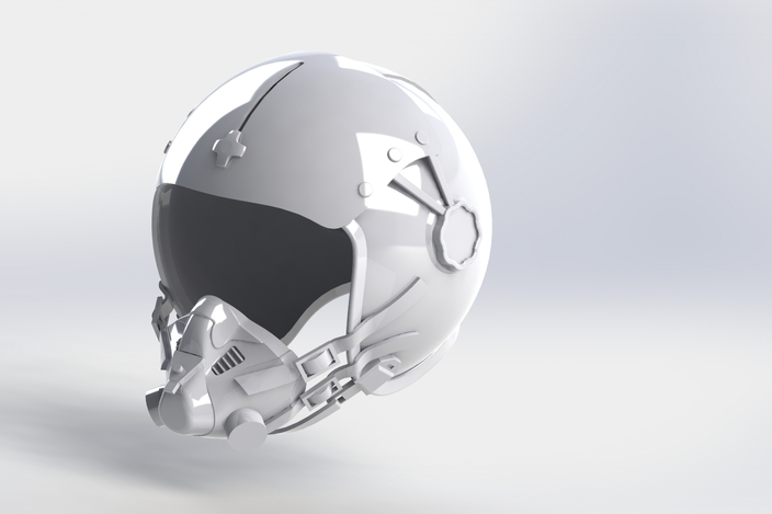 how to make an x wing fighter pilot helmet
