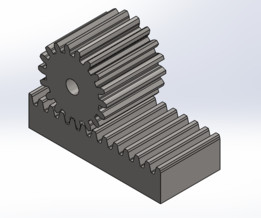 Pinhão - cremalheira (Rack and pinion)