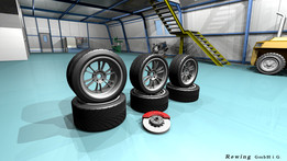 Wheel in different sizes