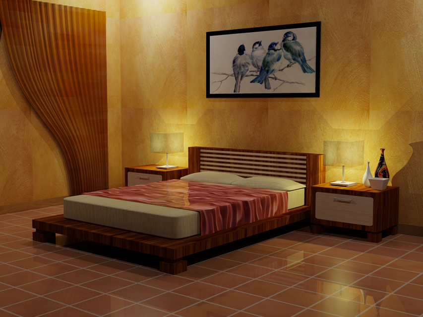 New Bed Room design 3D CAD Model Library GrabCAD