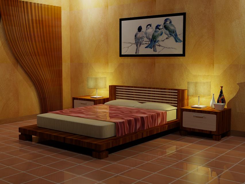 new bed room design - autocad - 3d cad model - grabcad