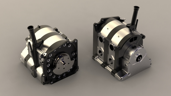 13b Wankel Rotary Engine Solidworks 3d Cad Model Grabcad