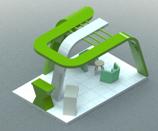 Exhibition Stall Design Software Free Download : D exhibition stall d cad model library grabcad