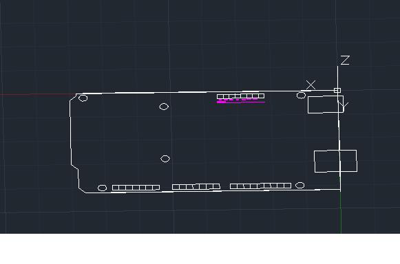 Arduino mega in progress autocad d cad model
