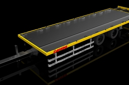 Extensible trailer with stiff shaft