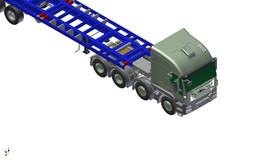 SEMI-TRAILER &  Container 20' & TRUCK