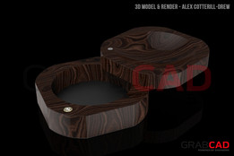 Trinket Tray with Cufflink Compartment