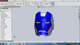 iron man helmet blue colour
