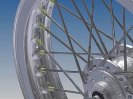 Honda CR750 (CB750R) Front wheel