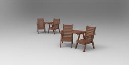 Companion garden chair