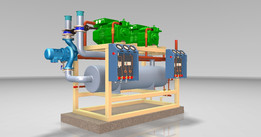 Chillers with reciprocating compressors