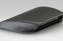 Carbon fiber hood scoop
