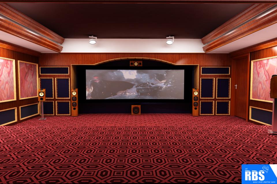 Home Theatre 3d Cad Model Library Grabcad