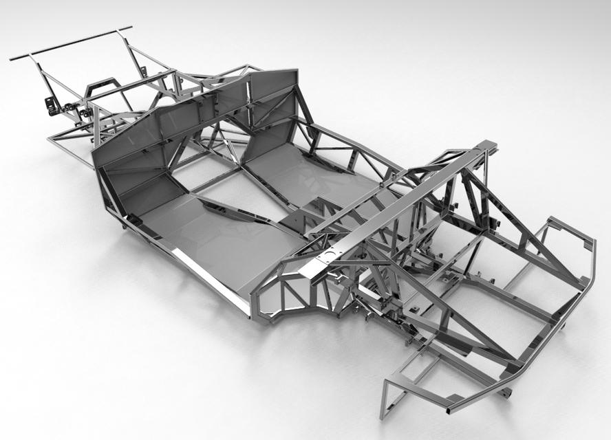 Naerc Lamborghini Diablo Murcielago Kit Car Chassis 3d Cad Model