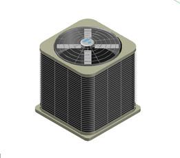 3D HVAC UNIT RESIDENTIAL EXTERIOR