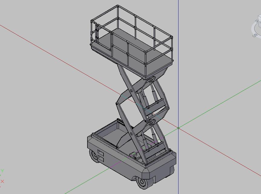 Scissor Lift | 3D CAD Model Library | GrabCAD