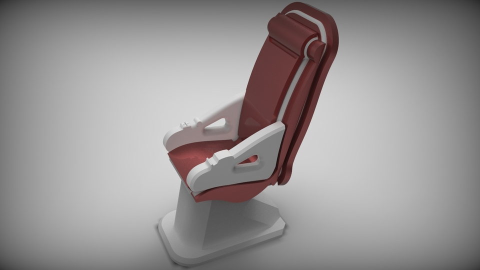 Chaise avion airline seat airplane chair step iges for 3d model viewer