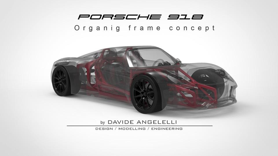 Porsche 918 Organic Chassis Frame Concept - 3D Print | 3D