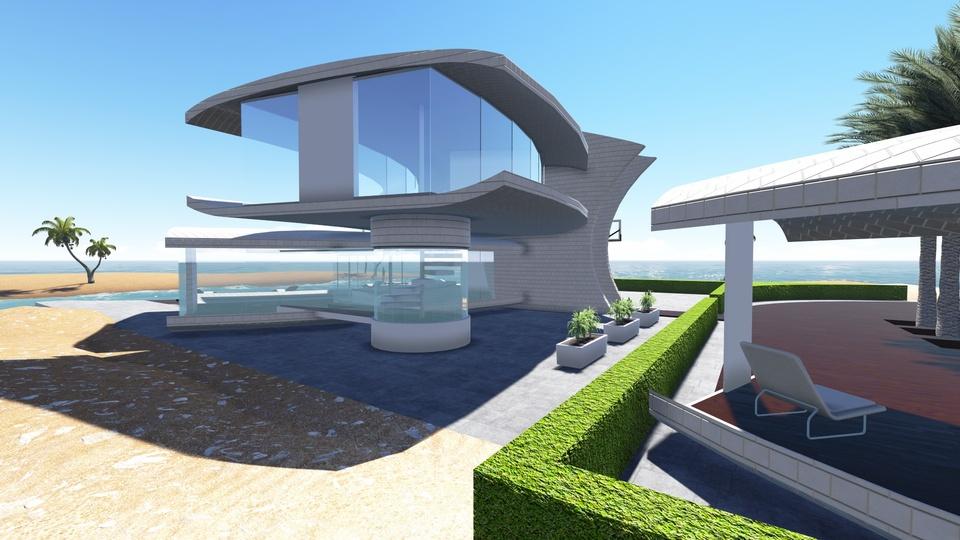 Modern Villa Sketchup 3d Cad Model Grabcad