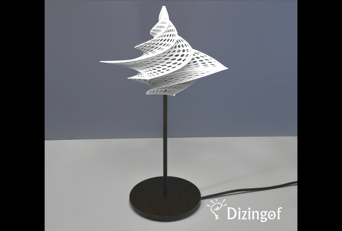 Hexaedron Lamp Shade - Math Art by @Dizingof