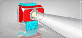 velodroom - front ligth - flash light