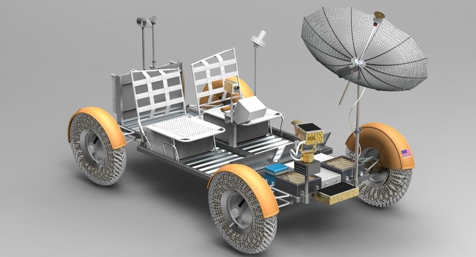 Lunar Rover - 3D CAD model - GrabCAD