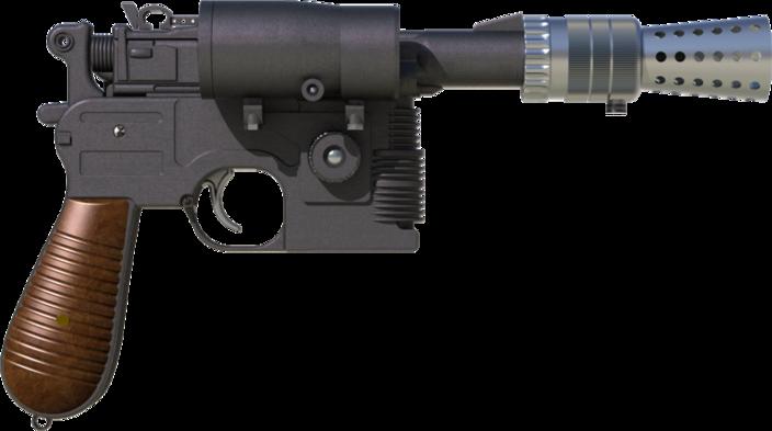 Han Solo Blastech Dl 44 Stl Step Iges Solidworks Other 3d Cad Model Grabcad