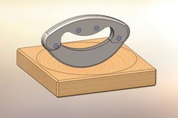 cradle board with doublle-blade-weight-knife