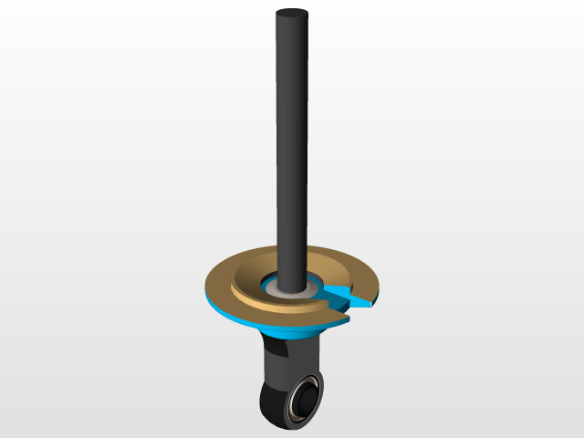Endurance Nitrox Gas Shock Absorber 270mm | 3D CAD