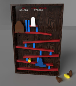 Arcade Platform Game/Jump 'n' Run (wood)