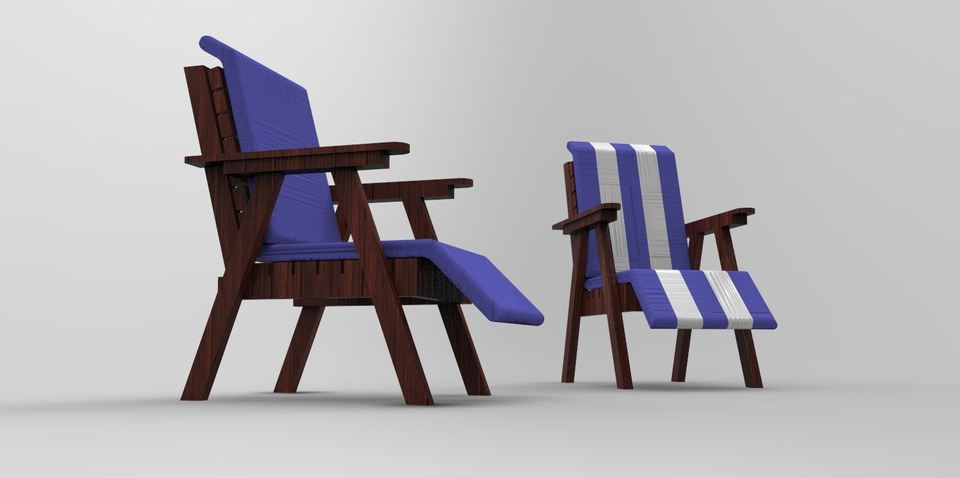 GARDEN TABLE AND CHAIRS | 3D CAD Model Library | GrabCAD