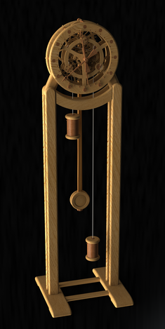 Wooden Grandfather Clock
