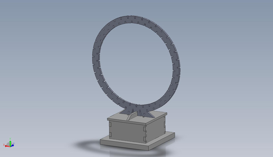 Indoor Magnetic Loop LW-MW-SW Antenna | 3D CAD Model Library