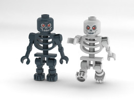 Lego Castle Skeleton Warior  Minifigure Black and White