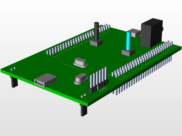 Kit stm32f407vgt6 discovery | 3D CAD Model Library | GrabCAD