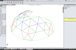 Geodesic Truncated Icosahedron Dome L1
