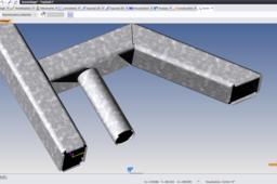 Composants tenons / mortaises sur tubes rectangulaires et circulaires