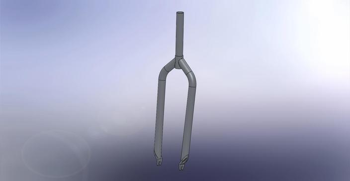 Bicycle fork, ultralight