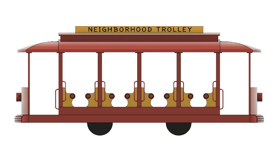Neighborhood Trolley | 3D CAD Model Library | GrabCAD