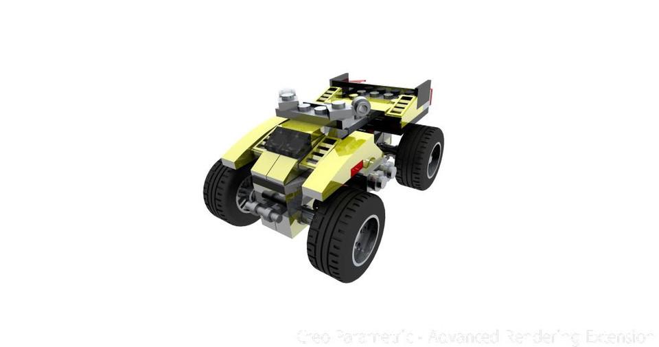 Lego Creator 31002- ATV model | 3D CAD Model Library | GrabCAD