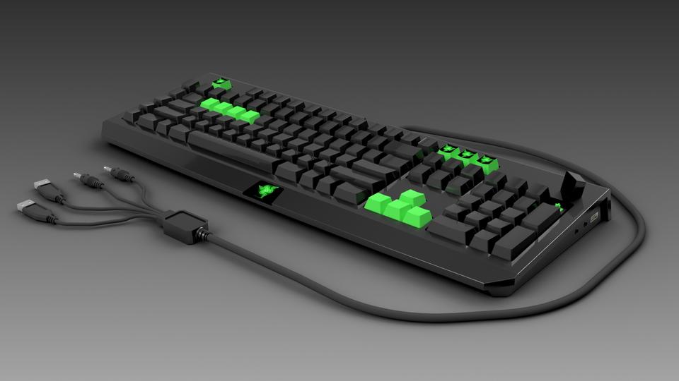 Razer blackwidow keyboard   3D CAD Model Library   GrabCAD