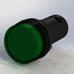 ABB panel mount indicator lamp - green Ø22