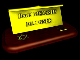TABLETOP NAMEPLATES MENASHE