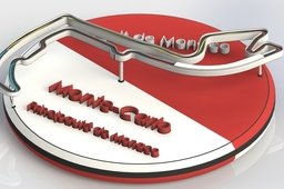 Monaco Table Decoration Piece/Badge :)