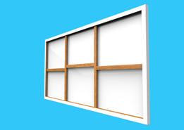 Large Canvas-frame and Canvas (Creo Skeleton, Parametric driven & Sheetmetal)
