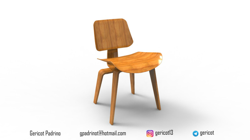 Eames LCW Chair | 3D CAD Model Library | GrabCAD