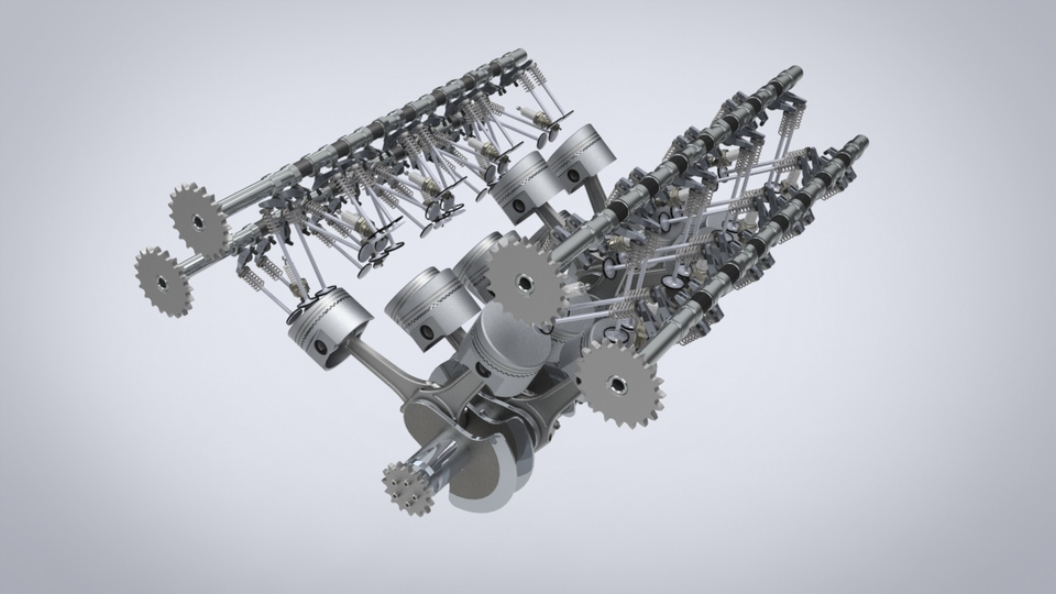 w16 engine 3d cad model library grabcad rh grabcad com W16 Engine Cutaway W16 Engine Cutaway